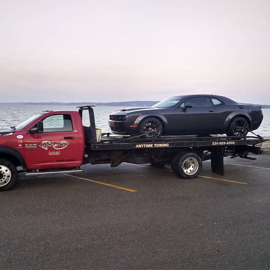 Anytime towing flatbed